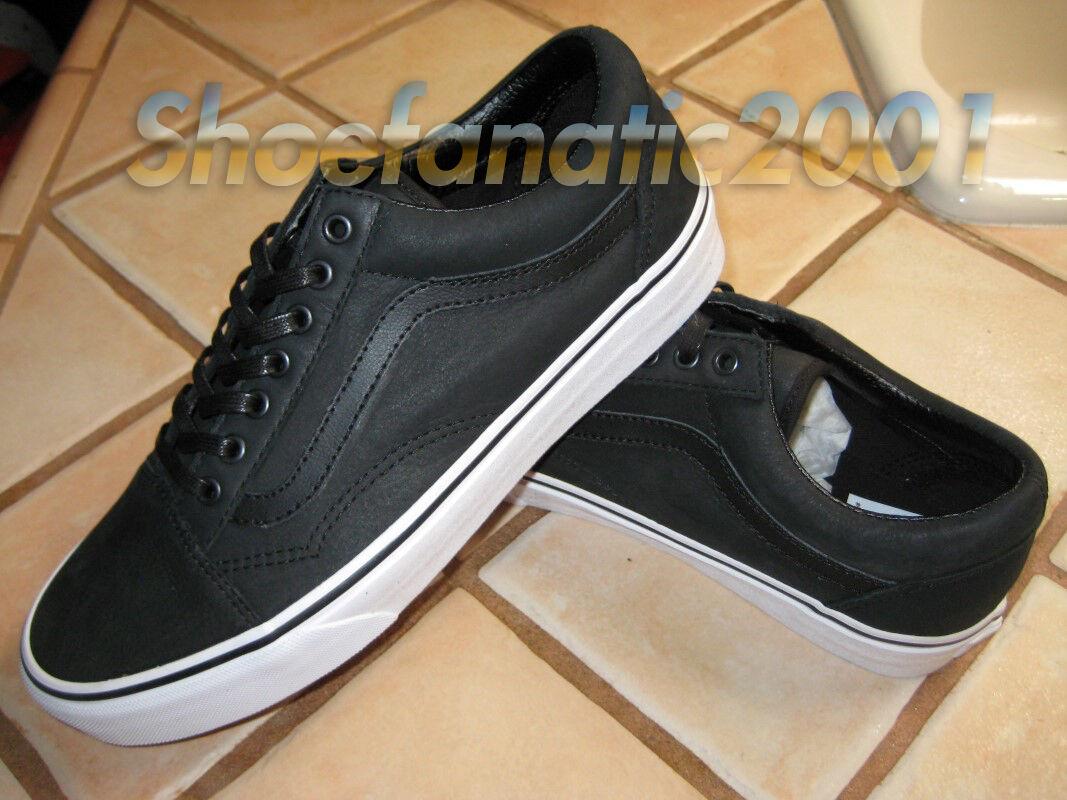 Vans Sample Old Skool Premium Leather Black White 9 Supreme Skate Dill AVE