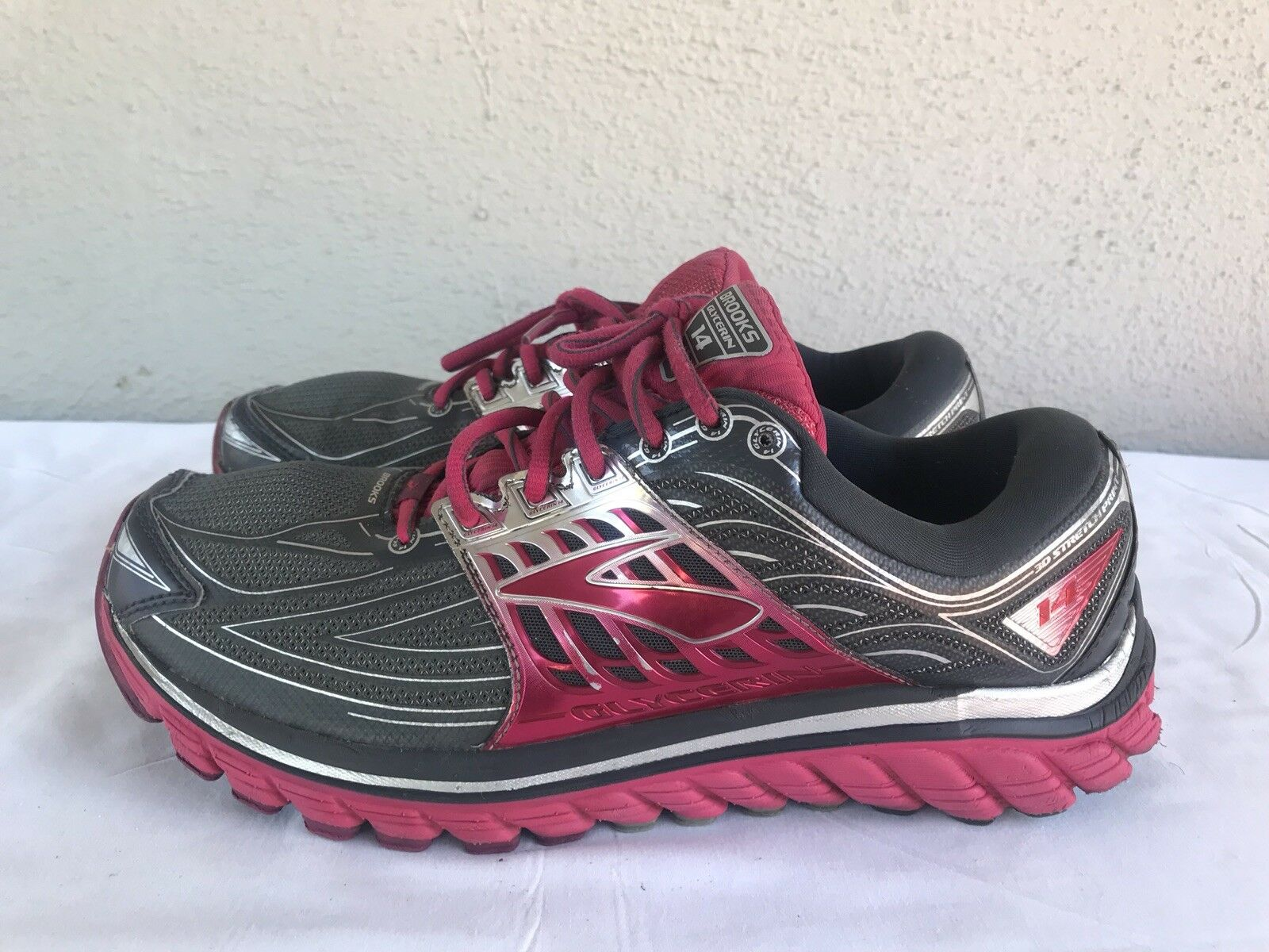 Para mujer Brooks Glicerina 14 rosado rosado rosado gris Running Zapatos Zapatillas tamaño nos 11 B  100% a estrenar con calidad original.