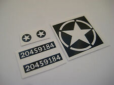 Dinky 669 - U.S Military Jeep ( Black  ) Stickers - B2G1F