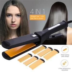 Hair-Straightener-Changeable-Wave-Wide-Plate-Curler-Roller-Corrugated-Iron-Tools