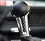 2Pcs Carbon Fiber Gear Shift Handle Decor Trim Cover For Ford Mustang 2015-2019