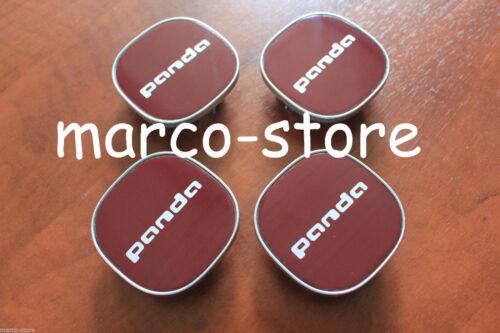 4 Tappi Coprimozzo FIAT PANDA 2012 /> Cerchi in Lega Stemma Logo Fregio Emblema