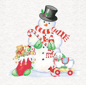Muñeco de Nieve NavidadTapiceríaCoserpaneles de tela artesanalImpreso