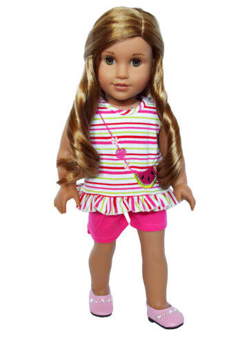 18 Inch Doll Clothes Watermelon Splash Outfit For American Girl Dolls