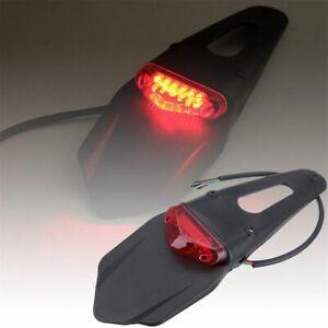 Guardabarros-trasero-Luz-de-freno-Off-Road-bombilla-LED-Luz-trasera-de-moto