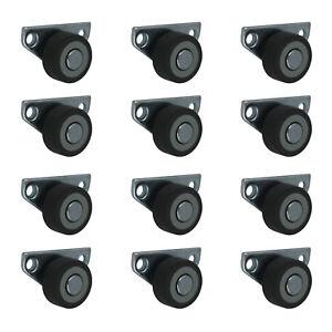 12-x-30-mm-Kastenrolle-Bettkastenrolle-Kastenbockrolle-Seitenrolle-mit-Softrad