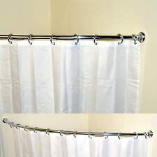 TELESCOPICO ALLUNGABILE CURVA FERROVIA bagno doccia per Tenda Lunghezza 118-190cm