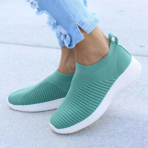 Women-Slip-on-Sport-Shoes-Fashion-Casual-Breathable-Lightweight-Running-Sneakers