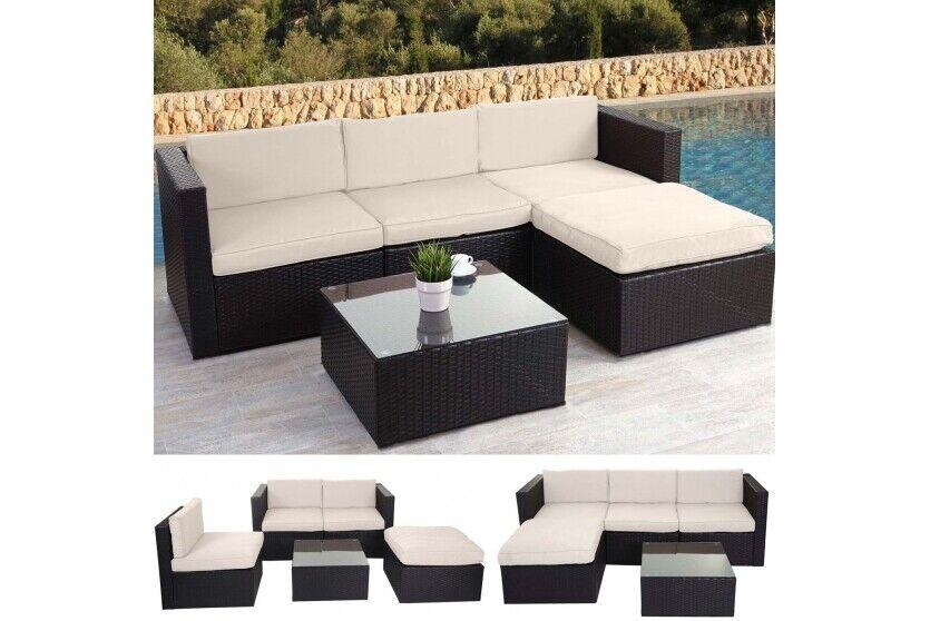 Polyrattan Loungegruppe Loungegruppe Loungegruppe Lounge Outdoor braun Loungesofa Sitzgruppe Gartensofa 15ef1f