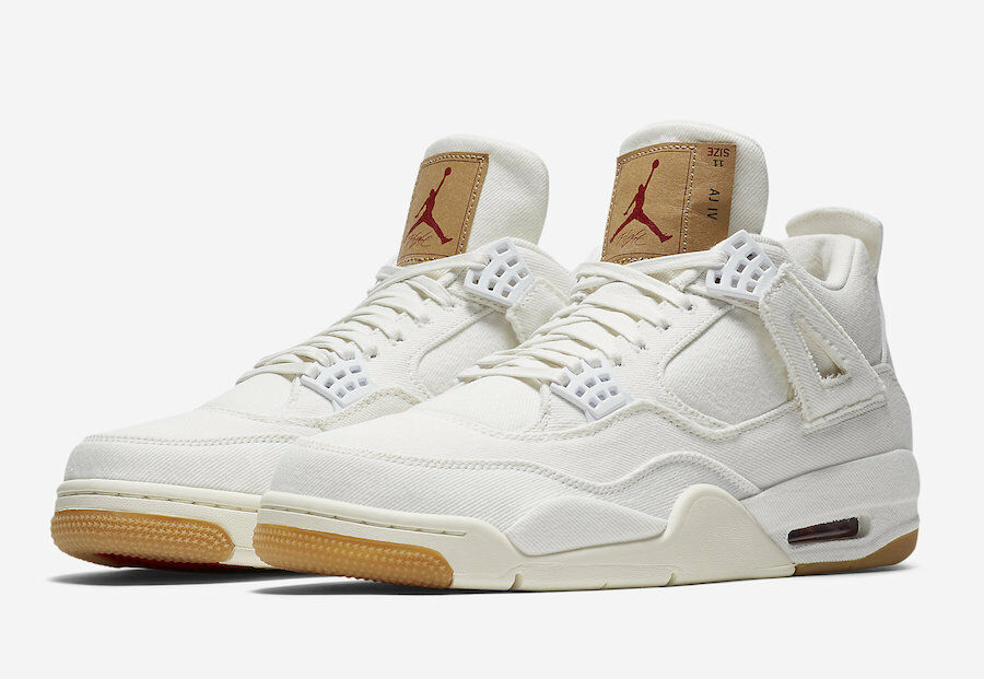 Nike Air Jordan 4 Retro Levis Off 2018 Blanco Denim Lote AO2571 2018 Off 90efaa