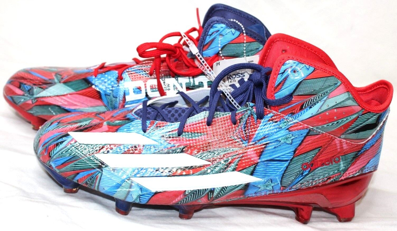 New Adidas 5.0 Don't Mess With Texas Football Cleat Red Blue B42741 Comfortable best-selling model of the brand