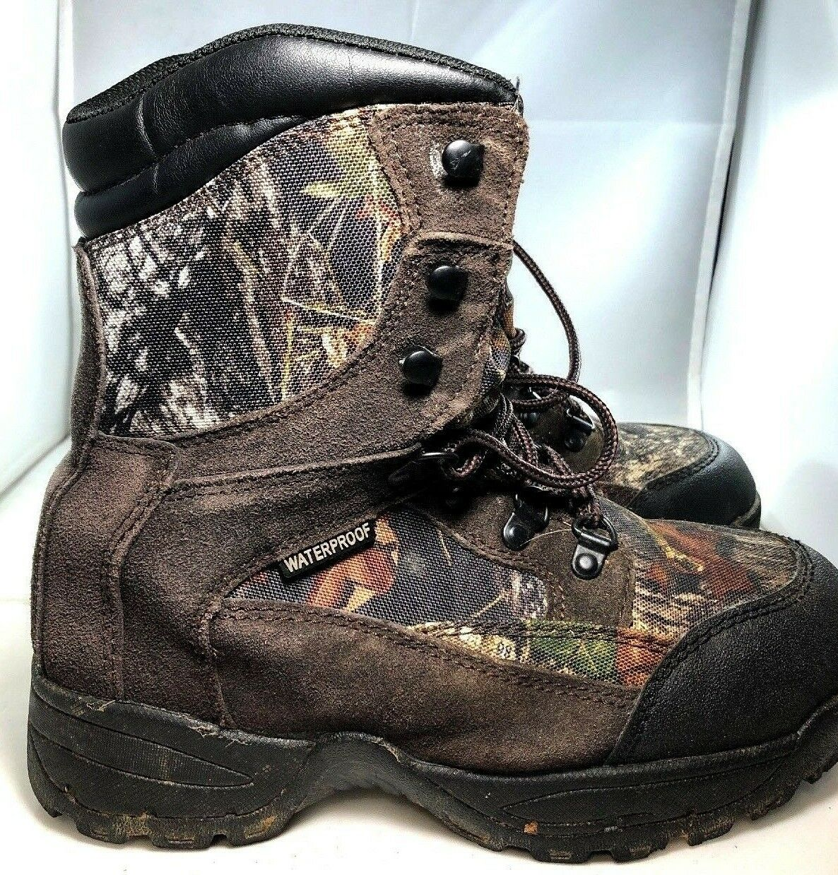 40a782700a560 Texas Steer Kirit Mens Insulated Waterproof Camouflage Boots Sz 7.5 EUC  (S33)