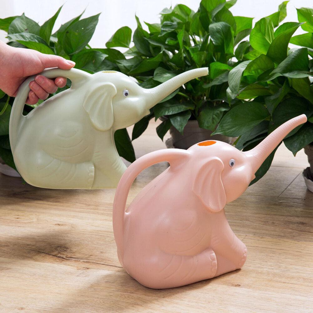 Mini Elephant Shape Watering Can Plastic Plants Sprinkler Gardening Supplies