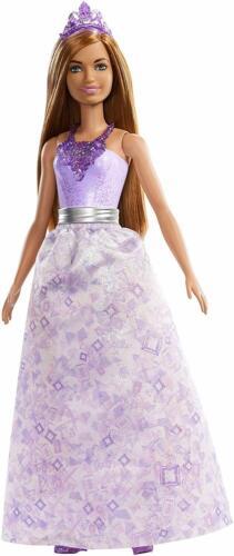 Barbie FXT15 dreamtopia princesse poupée brune Violet Gem-Inspiré Outfit