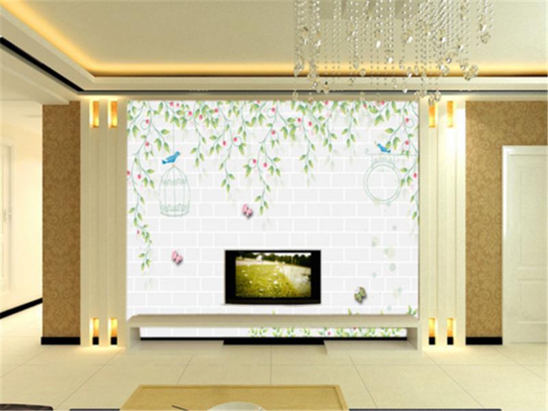 3D Grün Foliage Birds 738 Wallpaper Mural Paper Wall Print Wallpaper Murals UK