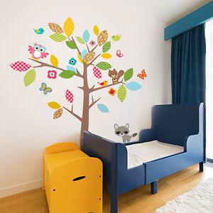 R00397-Wall-Stickers-Adesivi-Murali-Camerette-Albero-nel-bosco-60x120-cm