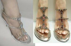 Womens Open Toe Clear Lucite Strap Heels #Jackey-s