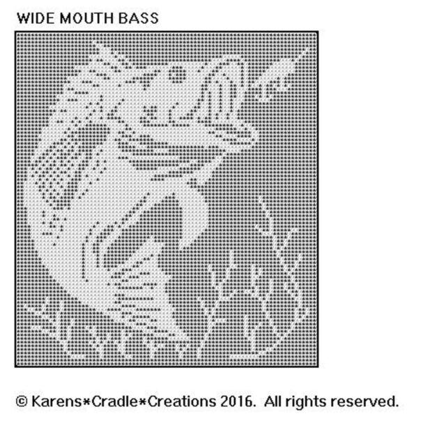 Wide Mouth Bass Filet Crochet Pattern Ebay