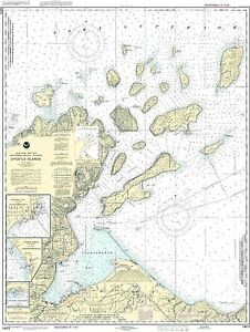 NOAA Chart Apostle Islands, including Chequamegan Bay 28th Edition 14973