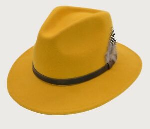 be0eb24d090 Image is loading iHATSLondon-Unisex-Fedora-Hat-Long-Brim-Supreme-Quality-