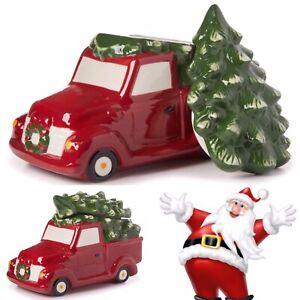 "Winter Wonder Lane Farmhouse Red Truck Tree Cookie Jar 🍪🍪🍪 10"" x 6"" x 7"" | eBay"