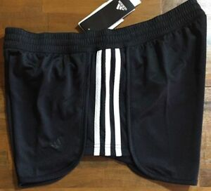 negro Stripe Medium mujer Knit 3 Climalite blanco Shorts Adidas para Nwt Eq48w8
