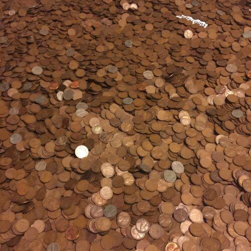 ✯1LB POUND UNSEARCHED WHEAT CENTS LINCOLN PENNIES✯ESTATE SALE COINS LOT✯1909-58✯