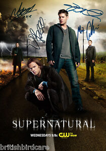 SUPERNATURAL-POSTER-Signed-Autograph-Photo-Quality-Repro-Jensen-Ackles