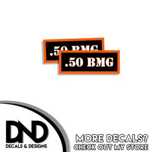 2 Pack .380 Ammo Can Decal Gun Ammunition Box Firearm Orange Sticker OR