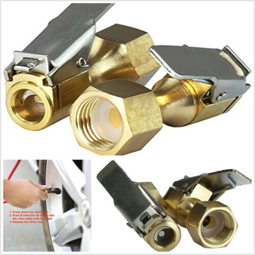 "A Pair Automobiles 1//4/"" NPT Clip-On Female Thread Brass Heavy Duty Air Chuck Kit"