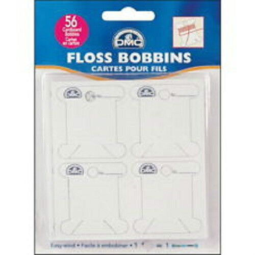 6101//12 BRAND NEW 56 Cardboard DMC Floss Thread Bobbins