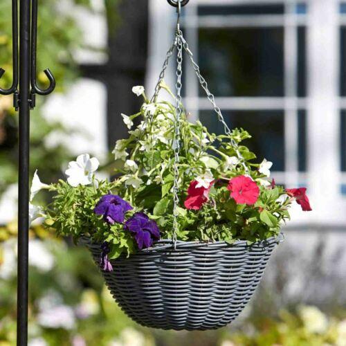 Größen und Farben Blumenampel außen Rattan Blumenampeln zum aufhängen versch
