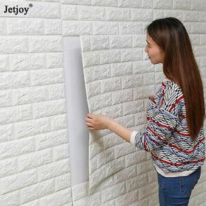 DIY-PE-Foam-3D-Self-Adhesive-Panels-Wall-Stickers-Home-Decor-Embossed-Brick-2PCS