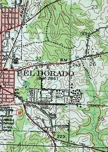 1951 El Dorado Arkansas Louisiana Junction City USGS Topographic ...