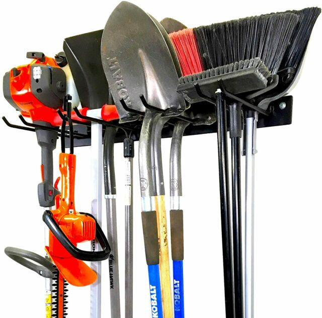 StoreYourBoard BLAT Tool Storage Rack, Garage Wall Mount Organizer, Metal Hooks
