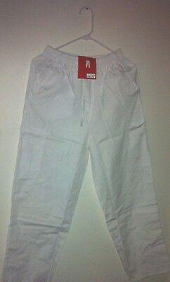 Scrubs Pants Black 5 pocket Cargo Elastic Waist Delta Uniforms