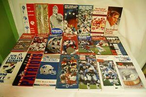 RARE-LOT-BY-NFL-NEW-ENGLAND-PATRIOTS-21-MEDIA-GUIDE-PROGRAM-PRESS-BOOK-FOOTBALL