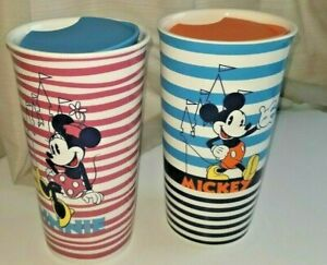 Disney-Parks-Mickey-Mouse-and-Minnie-Mouse-Tumblers-Travel-Mugs