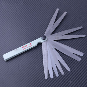 Details about 0 02-1mm 17 Feeler Thickness Measure Gauge Motorcycle Valve  Clearance Tool