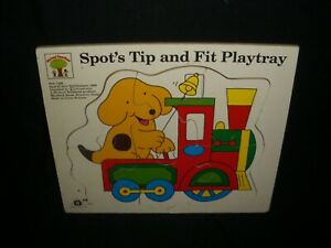 Vintage-1990-Wooden-Spot-the-Dog-Tip-and-Fit-Play-Tray-by-Michael-Stanfield