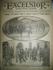 WW1-N-2111-SALONIQUE-Gaux-SARRAIL-ET-CORDONIER-MACEDOINE-JOURNAL-EXCELSIOR-1916
