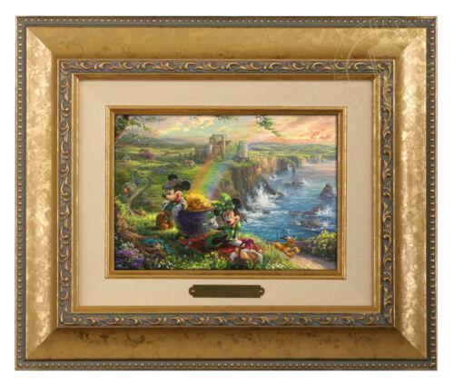 Choice of Frame Thomas Kinkade Studios Mickey and Minnie In Ireland Brushwork