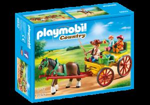 Playmobil-6932-Carro-de-Caballos-nuevo