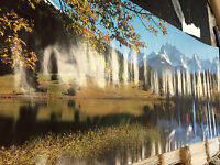 Beautiful Landscape 1987 Scenic Clipped Corner Vintage Door Poster Pbx3216