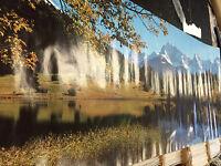 Beautiful Landscape 1987 Scenic Clipped Corner Vintage Door Poster Pbx3216