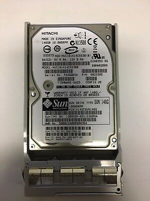 "Sun 540-7355-02 146GB HUC101414CSS300 2.5/""SAS 6Gb//s 10K Hard Drive W//Tray"