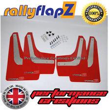 Mudflaps RallyflapZ HONDA CIVIC TYPE S FN2 2007-2010 Red Logo Silv/Red 4mm PVC