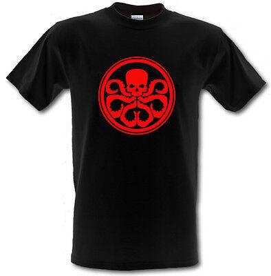 2019 Ultimo Disegno Hydra Marvel Dc Comics Agenti Di Scudo Grandine Ispirato T-shirt ** Tutte Le Taglie **-mostra Il Titolo Originale