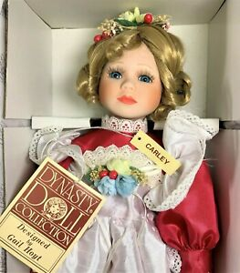 Vintage-Dynasty-Doll-034-CARLEY-034-Porcelain-17-034-w-Box-amp-Certificate-of-Authenticity
