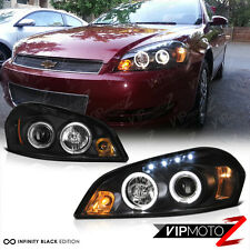 2006-2013 Chevy Impala HALO LED Black Projector Headlight 2006-2007 Monte Carlo